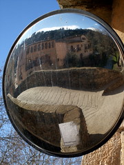 Reflected Bridge (enric archivell) Tags: mirror spain catalonia priorat porrera
