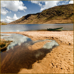 Lough (Loch) Na Fooey (Mick Bourke.) Tags: county ireland lake mountains galway real lough na connemara mayo loch gem glacial fooey partry greatphotographers finny bej flickraward naturesgreenpeace flickraward5