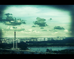 View of Singapore (JeremySze) Tags: skies orq singaporeflyer rafflesonequay