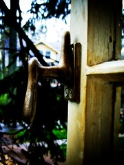 My Old Office Window...Remixed (mightyquinninwky) Tags: window rain handle lock kentucky lexingtonkentucky evergreen picnik latch earlyspring remixed fontaineroad chevychasearea fayettecountykentucky centralkentucky thebluegrassstate