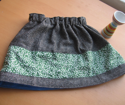 Reconned toddler skirt