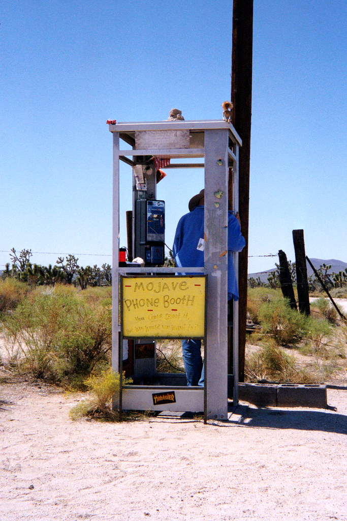 Ext. Mojave Phone Booth, Day
