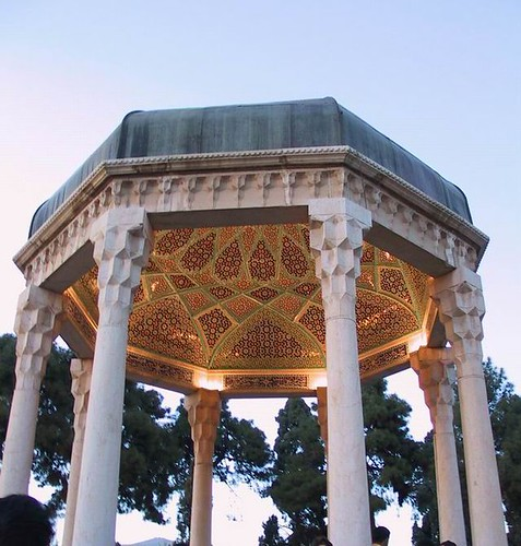 Iran-Shiraz - tomb of hafez the master of Persian lyrical poetry