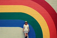 (yyellowbird) Tags: girl wall rainbow cari rockford