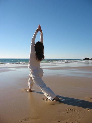 Burgau Beach Yoga / Virabhadrasana I