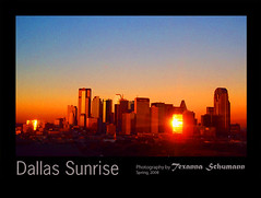 DallasSunriseorangeSky_withBlackMat_TX copy (Texanna Schumann) Tags: city morning orange sun skyline sunrise dallas texas sensational fineartphotos texanna shieldofexcellence impressedbeauty diamondclassphotographer flickrdiamond