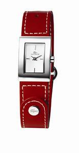 Red leather strap watch - Lacoste - 110 euro