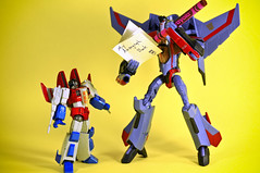 """To my biggest fan..."" (revlimit) Tags: macro toys nikon explore transformers animated nikkor 478 decepticon starscream d300 revoltech 55mm28macro plastic52 starscreamx2"