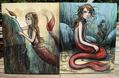 Mermaids (verpabunny) Tags: original painting acrylic mermaid kellyvivanco