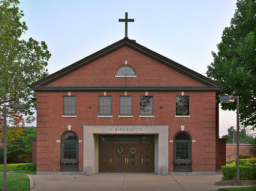 Saint Bernadette Roman Catholic Church, in Lemay, Missouri, USA - exterior