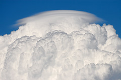 Cumulus congestus with pileus (Pierpaolo.) Tags: summer sky italy sun storm nature water weather clouds italia nuvole estate towers explosion july natura cielo strong thunderstorm sole 2008 acqua bergamo tempo lombardia meteorology torri temporale luglio updraft meteorologia seriate cumulo canoneos30d canon70300isusm justclouds congesto