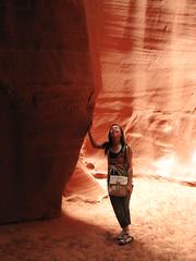 My wife in Cathedral Canyon, Navajo Reservation, Arizona, USA (Boonlong1) Tags: arizona usa nature sandstone natural nativeamerican navajo slotcanyon cathedralcanyon