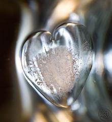 Ice Heart (Ahmed AL-Faraj photography) Tags: macro ice broken water drops waves heart sony alpha a300 alpha300