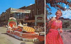 Traverse MI Cherry Queens Parade Float 1964 Cherry Festival
