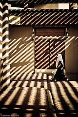 Under The Striped Shades (Sulaiman_Q8) Tags: kuwait sulaiman alsalahi removedfromadobelightroomfortags 1on1shadowsilhouettesphotooftheweek 1on1shadowsilhouettesphotooftheweekaugust2008