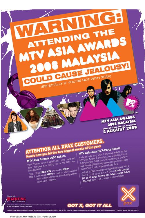 XPAX MTV ASIA AWARDS.
