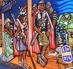 Roman Soldiers from Christina St mural