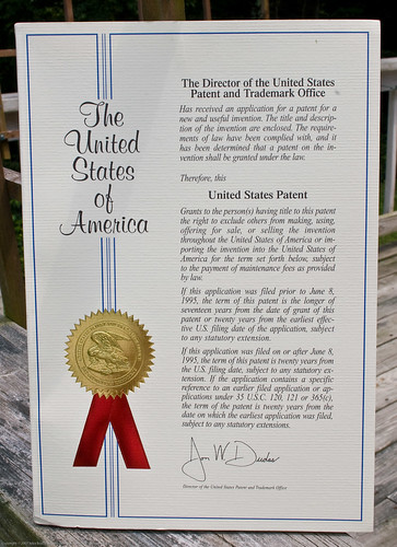 My first patent!