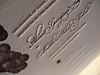 Grape Vine Letterpress Wedding Invtiation Set - Invite Closeup