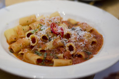 Rigatoni with Red Pepper Sauce