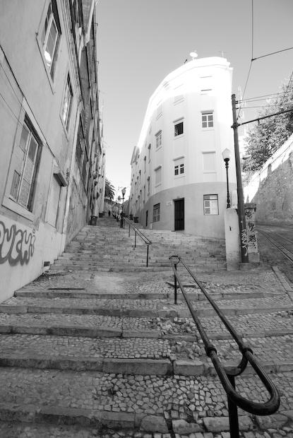 Escadas do Elevador do Lavra em Lisboa