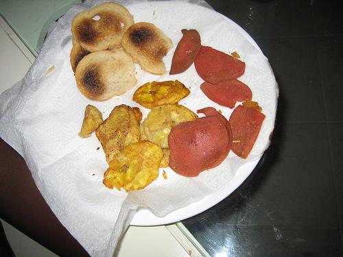 Fritos con salami