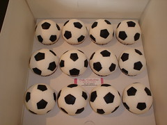 Football cupcakes (Crafty Confections) Tags: cupcakes football soccer