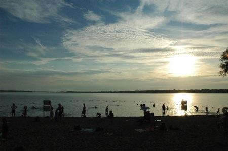 sunset at Westboro Beach