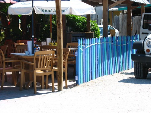 blue picketfence