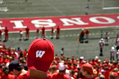 Wisconsin Red (photo.klick) Tags: red field hat wisconsin football stadium photoblog badgers fans wi camprandall cmwdred katsingercom