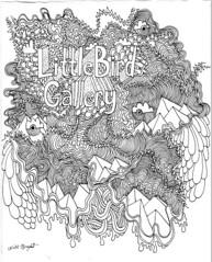 Thank You - Drawing (Willbryantplz) Tags: paper la losangeles gallery drawing doodle littlebird