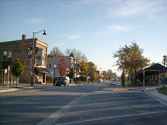 A lovely Autum morning in west suburban La Grange Illinois. October 2007.