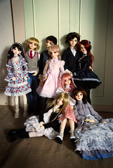 The adults... (nettness) Tags: toys virginia gideon doll dolls tony matilda wig bjd f22 dollfie superdollfie volks sd10 pinkhair abjd pinkeyes abigale kun arttoys balljointeddoll balljointdoll sd13 schoolb schb schoolc schc schoolheadb suwaricco victorgideon classroomheadb