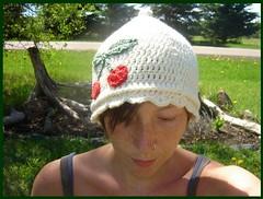 very cherry pixie hat (sand_and_sky) Tags: new hat dreadlocks pattern crochet cap etsy dreads cloche diys sandandsky
