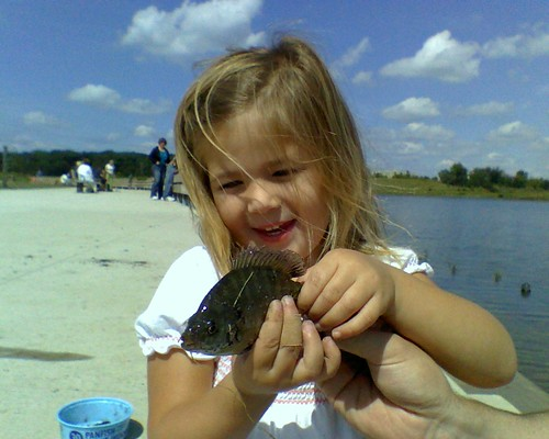 Isabella's First Fish