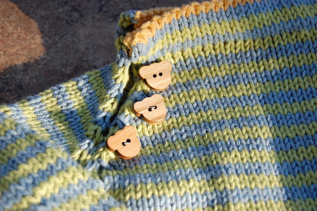Stripe Sweater - Wooden Bear Buttons