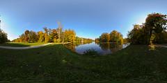 Nymphenburg (Deworde) Tags: park autumn panorama mnchen bayern bavaria herbst fisheye schloss bume nymphenburg equirectangular kugelpanorama
