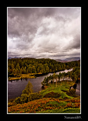 Tarn Hows. (numanoid69) Tags: uk autumn trees england lake mountains nationalpark heather lakedistrict cumbria bracken tarn tarnhows prideofengland