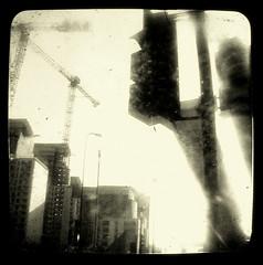 (esarempee) Tags: street bw london sepia architecture industrial glare battersea duaflex bsquare ttv