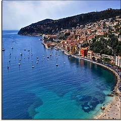 Ooh La-la... La French Riviera (Nathan Bergeron Photography) Tags: france beach port geotagged boats interestingness nice mediterranean ctedazur oldtown villefranchesurmer turquoisewater explored anawesomeshot yearinfrance absolutelystunningscapes montleuze geo:lat=43706988 geo:lon=7317602