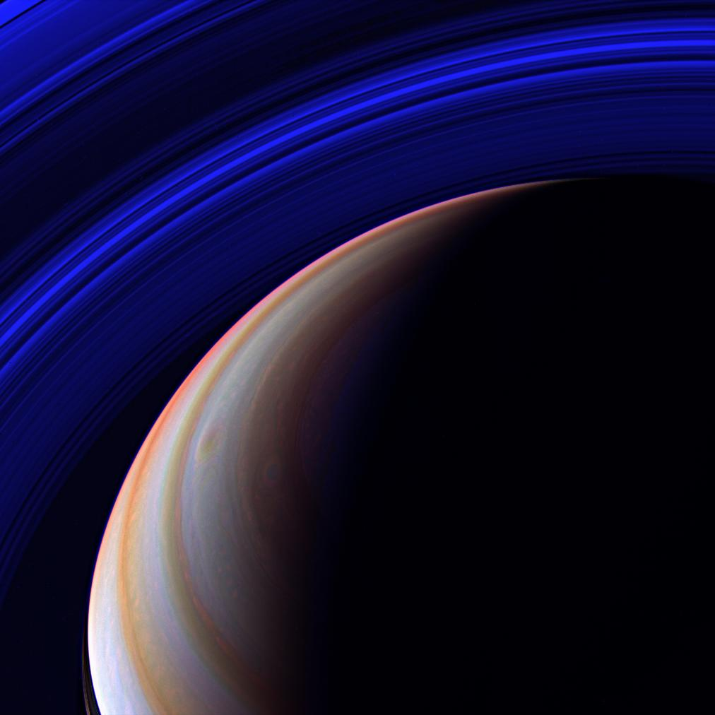 Saturn - Blue Expanse (JPL)