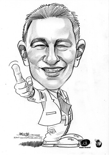 Caricatures Web in Travel 2008  Oliver Winzer