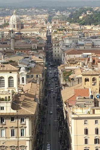 Via del Corso from Il Vittoraino