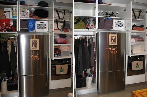 BEFORE & AFTER -- hall closet by tiboutoo.