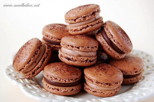 Chocolate & Nutella Cream Macarons