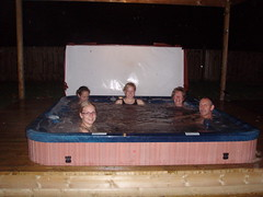 Hot tub at the cottage