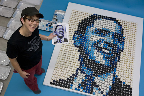 Zilly Rosens Cupcake Portrait of Obama