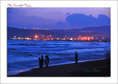Sunset over the beach (coold) Tags: sunset beach vizag vizagbeach