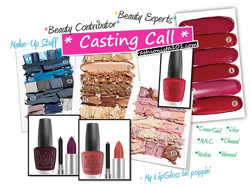 casting call - beauty contrib by you.