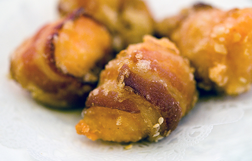 GOLDEN UNICORN - BACON WRAPPED SHRIMP BALLSs